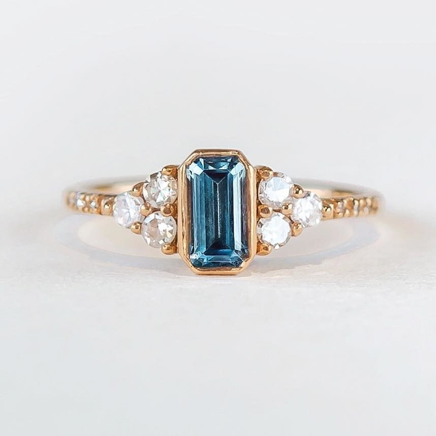 Dainty, Mighty, Rare and Beautiful! This Glowing GIA Montana All Natural No-heat treated sapphire reminds me of the crisp blue sky