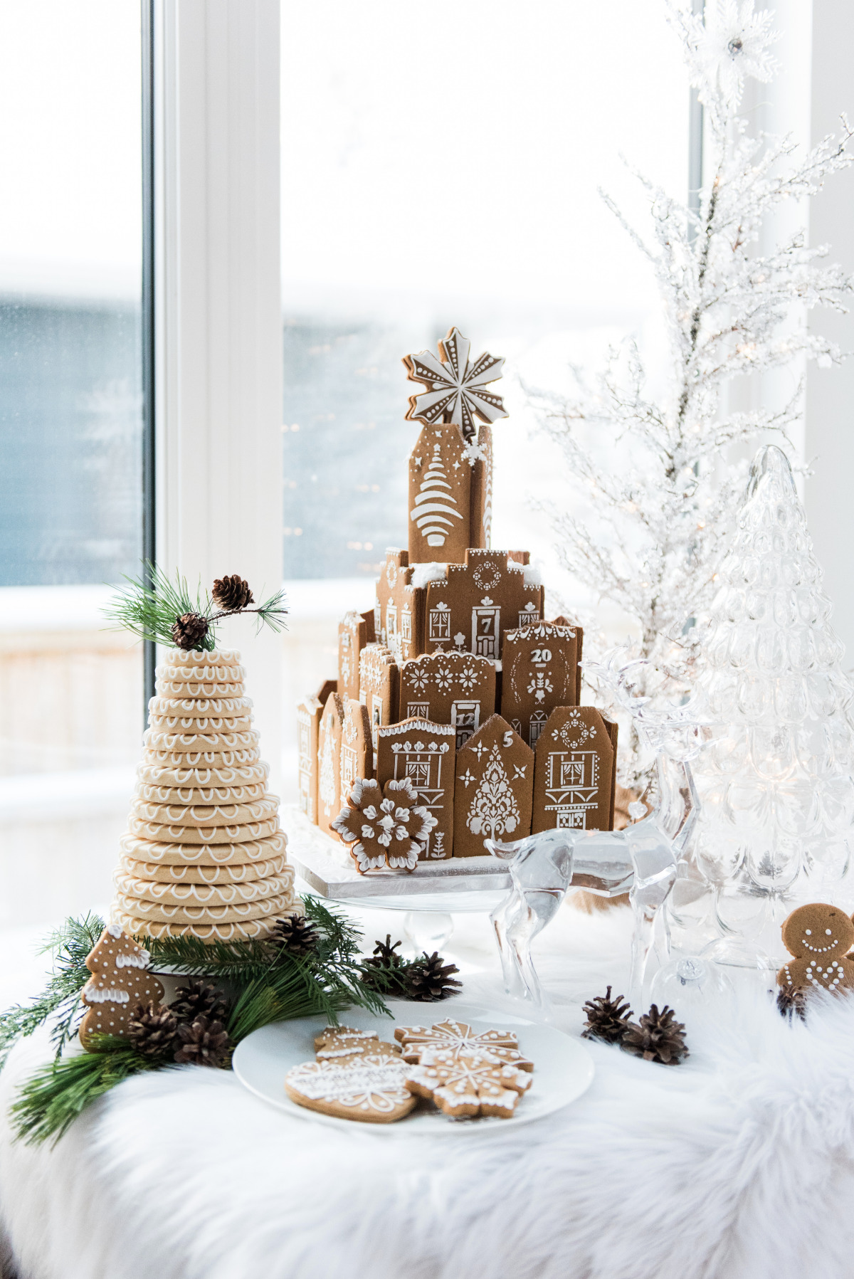 Ginger bread wedding cake design