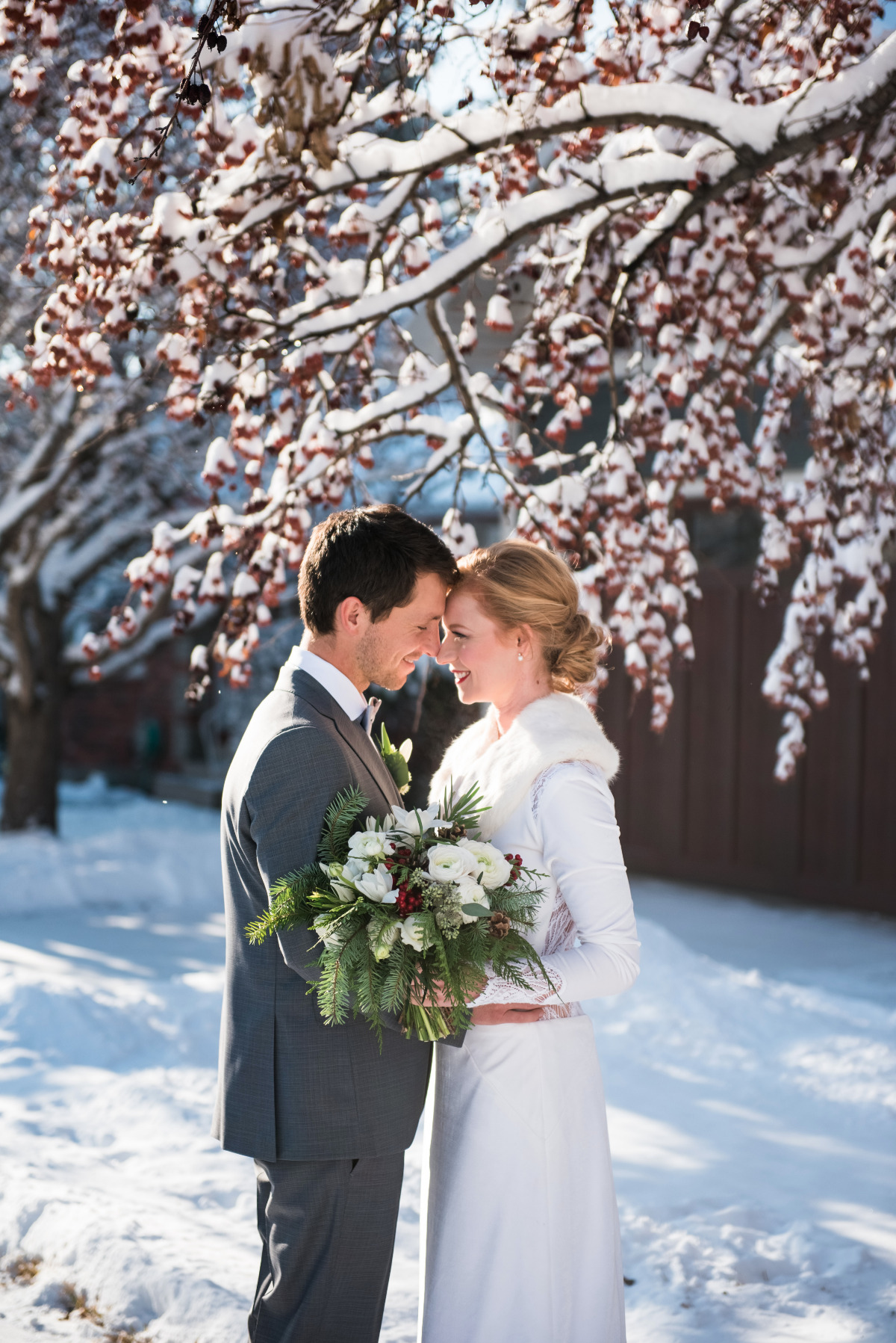 Scandinavian winter wedding