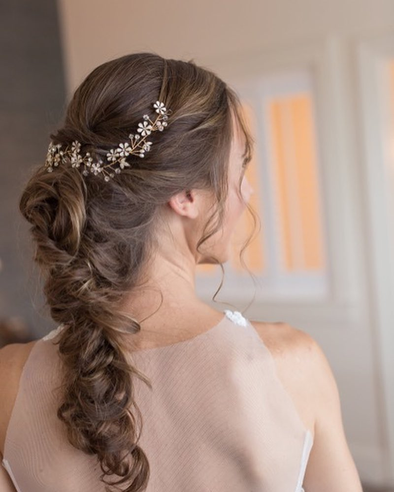 Lottie-Da Designs Hair Pieces for Every Bride