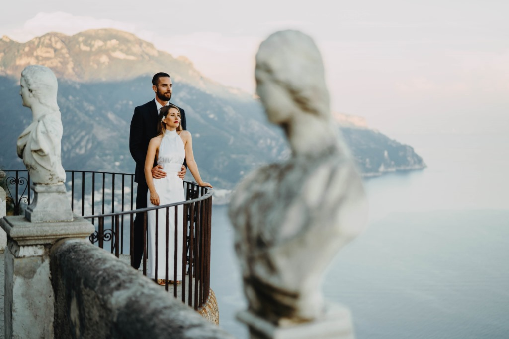 Robert and Penelope's Perfect Elopement In Villa Cimbrone, Ravello So the technical term for eloping is 'running' away, but in weddings