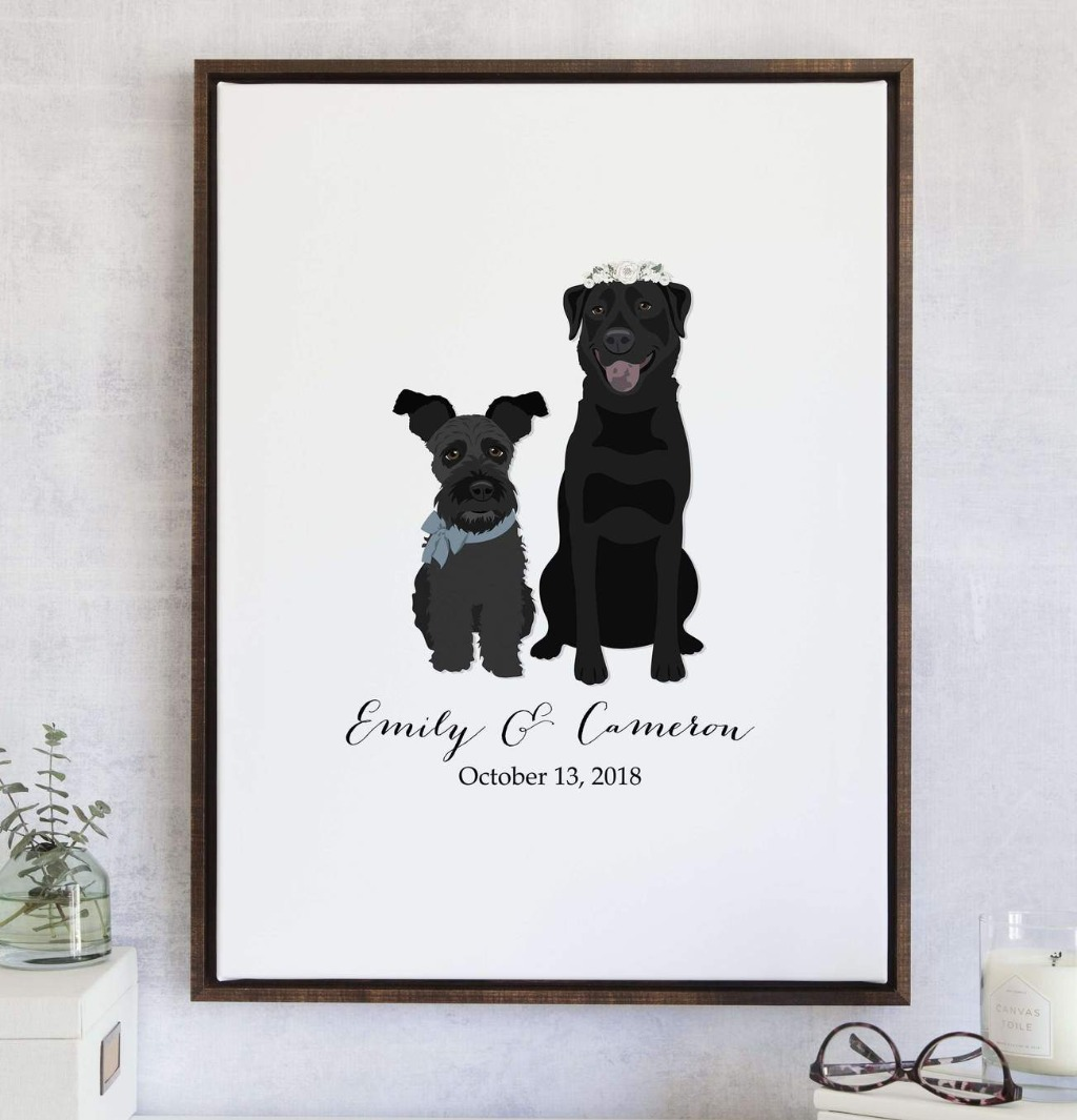 Imagine your fur babies on your wedding day guest book!! At Miss Design Berry, we can make it happen!! This Wedding Guest Book Alternative