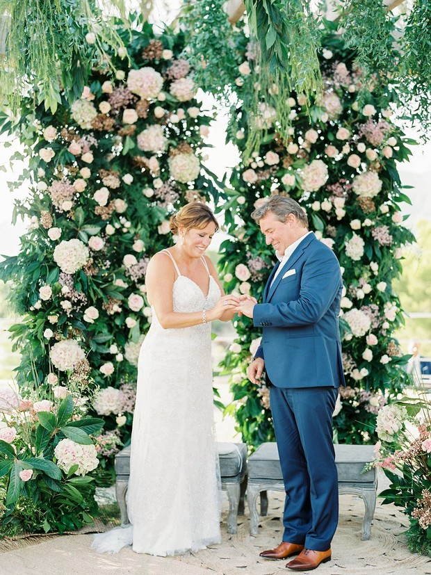 flower ceremony backdrop