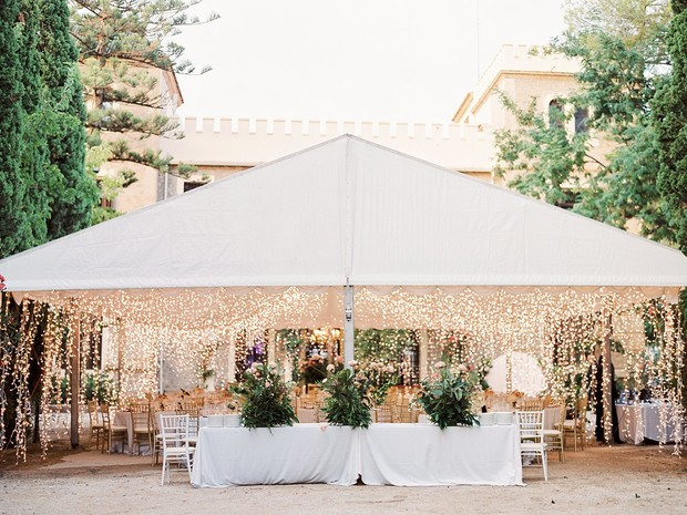 tent reception lighting