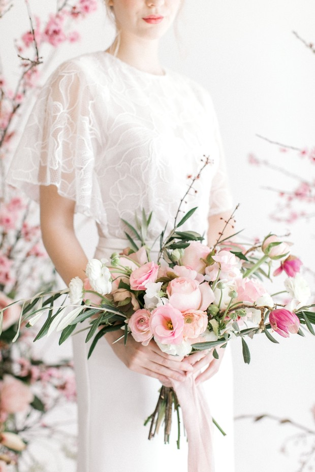 spring pink wedding bouquet