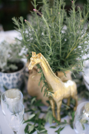 gold animal table decor