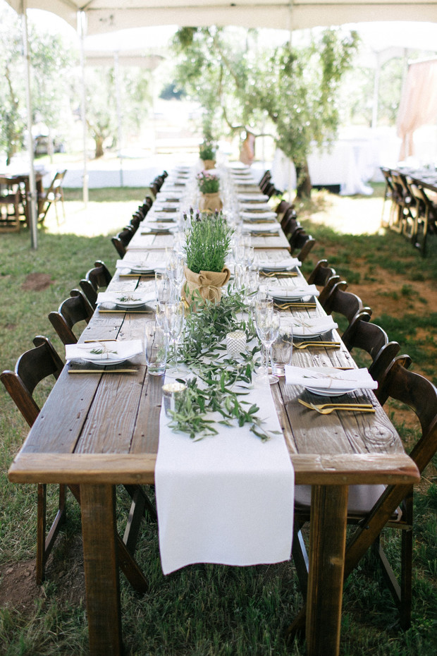 farm fresh wedding tables