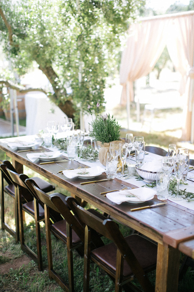 farm fresh wedding table decor