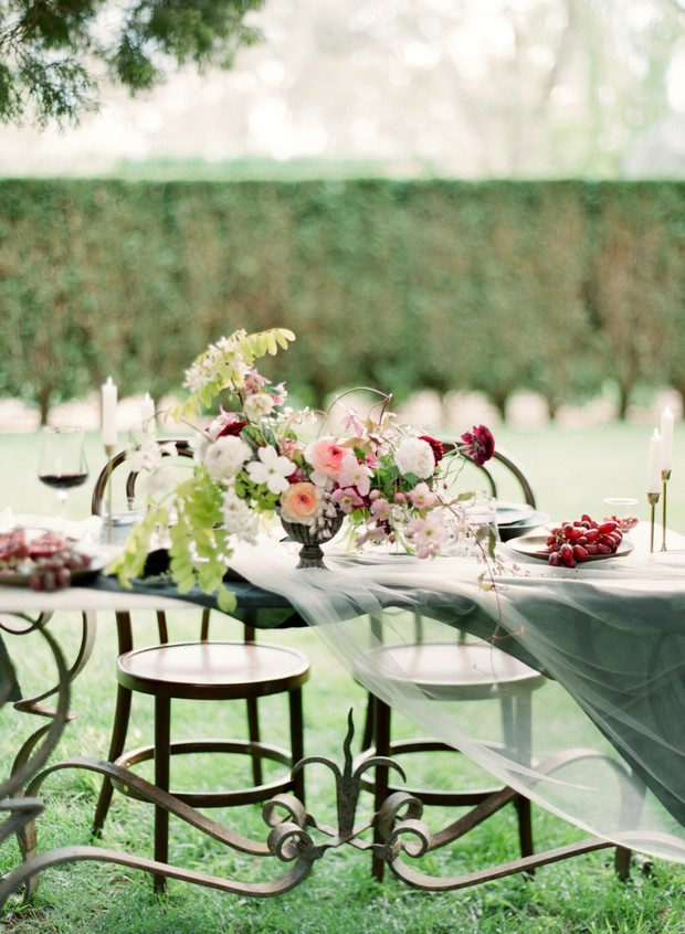 Elegant and chic table decor
