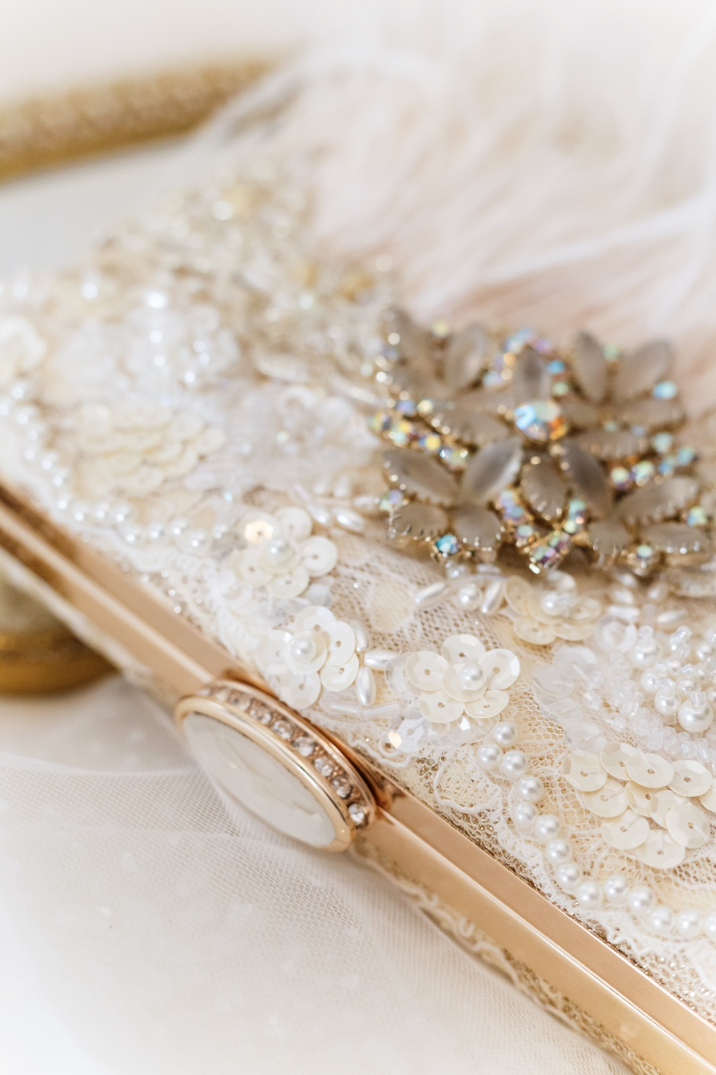Bridal clutch details is what we love to design at Cloe Noel.