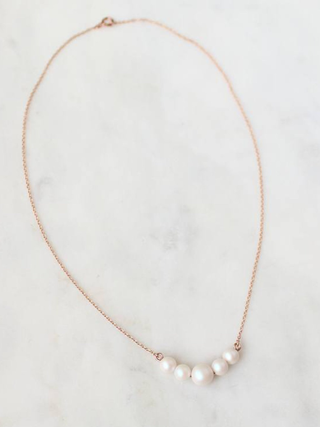 A simple necklace for a pared down look.