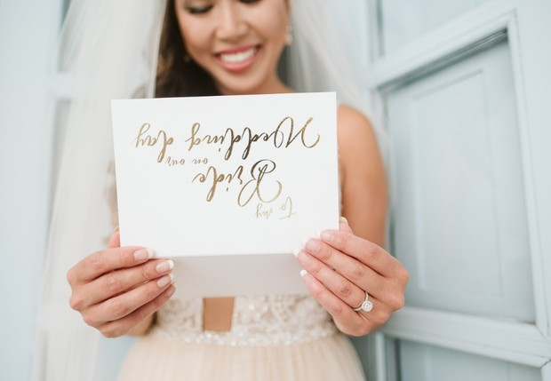 sweet note from the groom