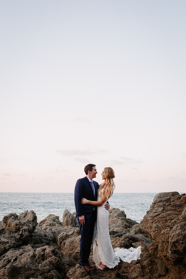 romantic beach wedding in Mexico