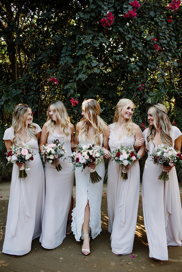 Bridesmaids in neutral