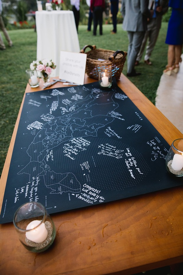 map wedding guest book