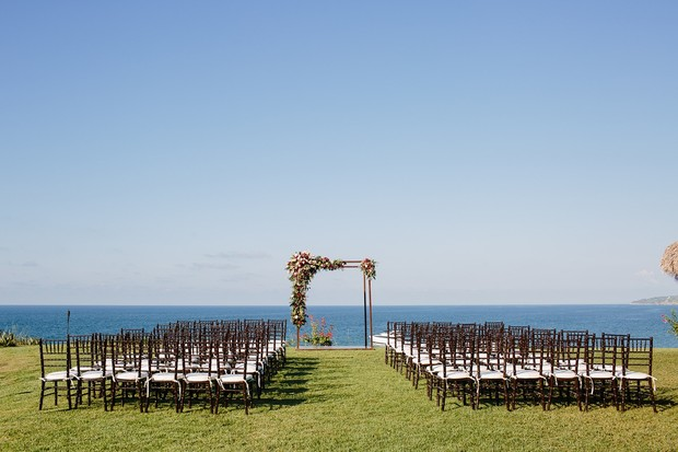 Outdoor ceremony by the sea