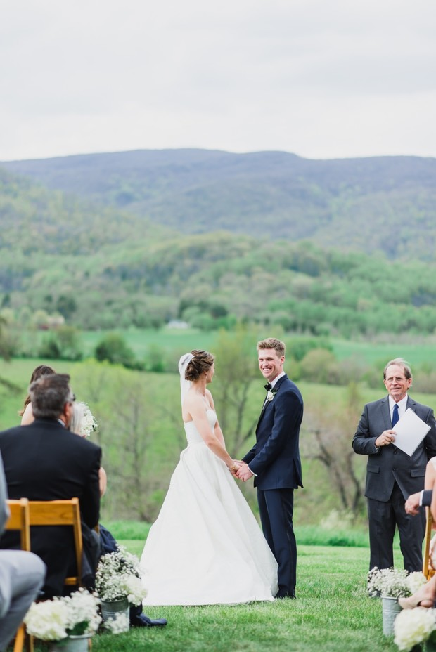 outdoor farm ceremony