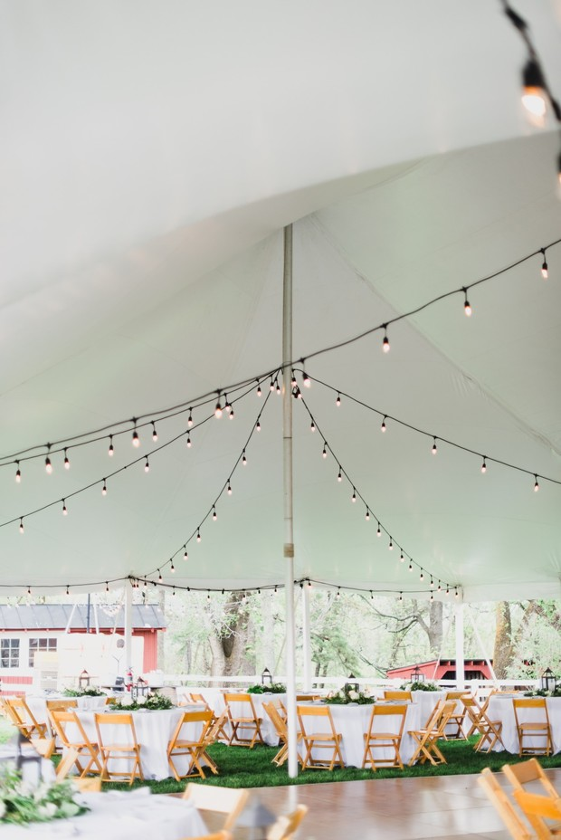 tented reception lighting