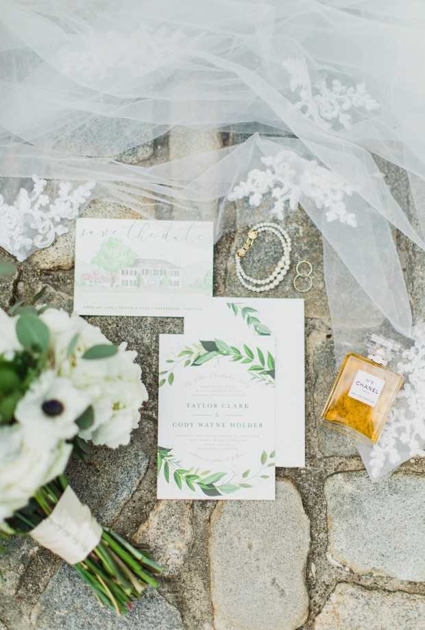 greenery invitation suite wedding