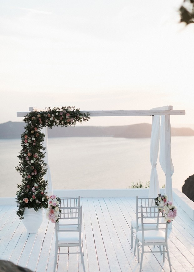 ceremony with a view in Greece
