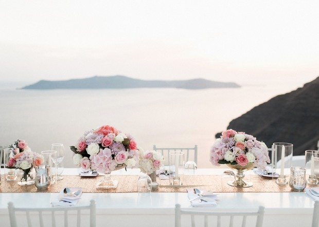chic reception in Greece
