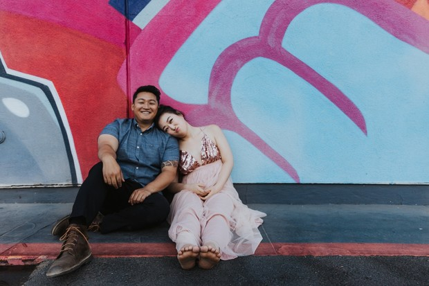 mural engagement photos