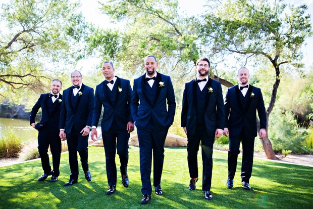 here come the groomsmen