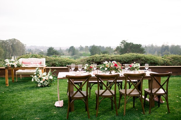 wedding table decor outdoors