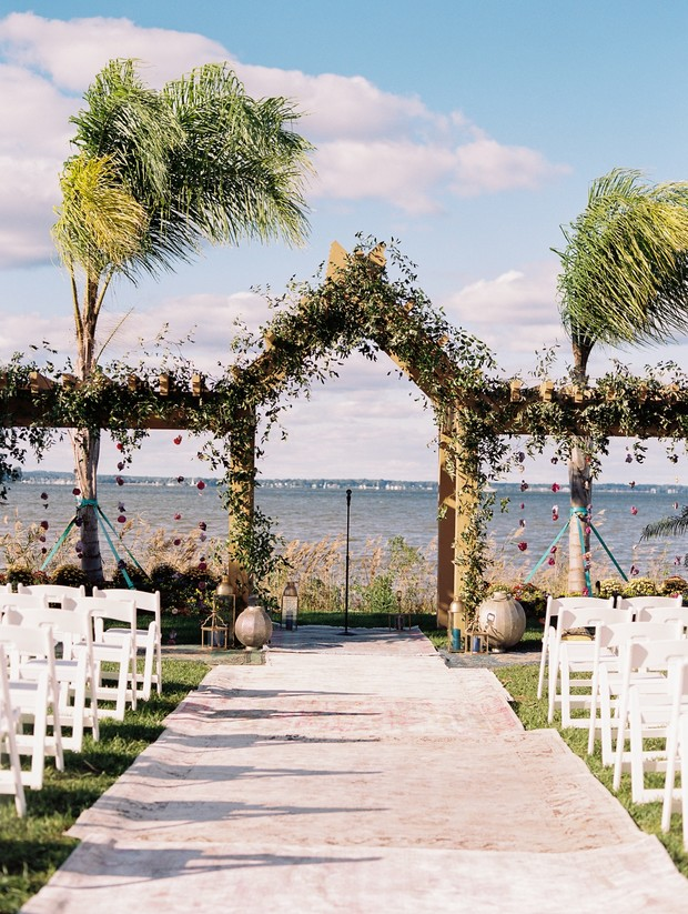 wedding ceremony arbor
