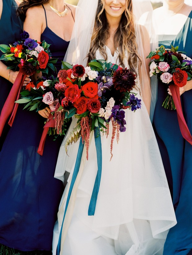 jewel-toned wedding bouquet