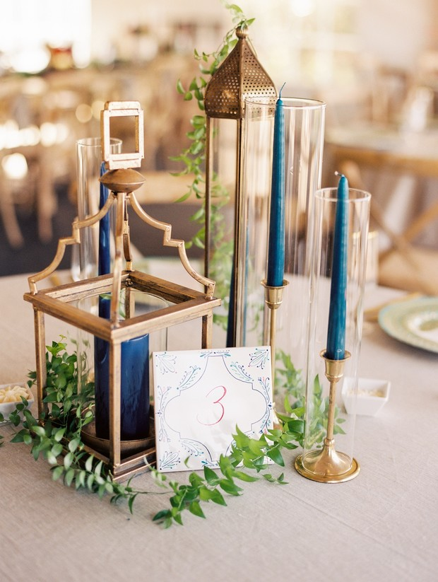 moroccan wedding centerpiece