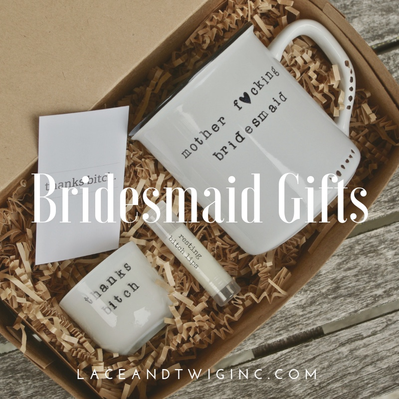 Maid of honor and bridesmaid gifts that your besties will drool over...visit us and customize to your heart's content.