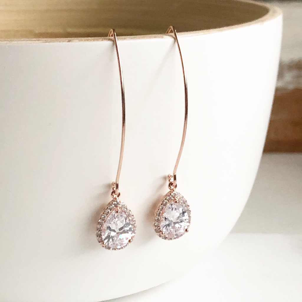 Lovely and simple! These earrings are perfect for just about any occasion. They are simple and yet the earwire is long, adding a unique