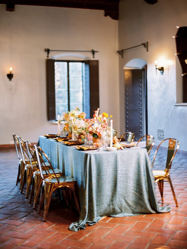 romantic reception table for spring