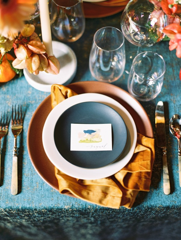 place setting design for a wedding