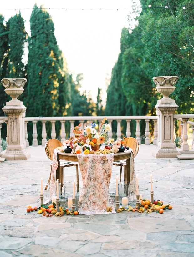 spring sweetheart table design