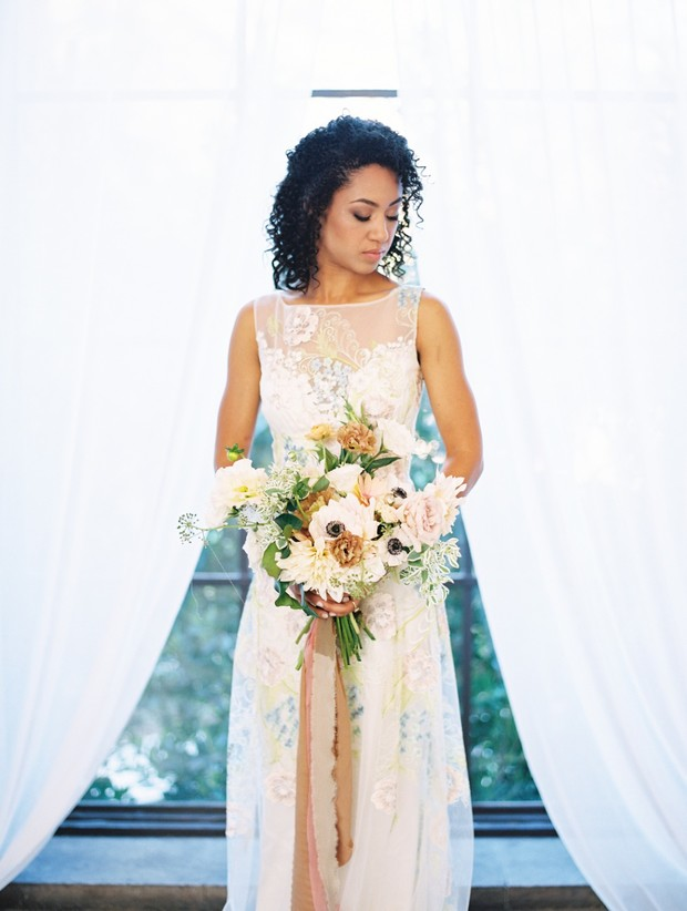 romantic bridal look for spring