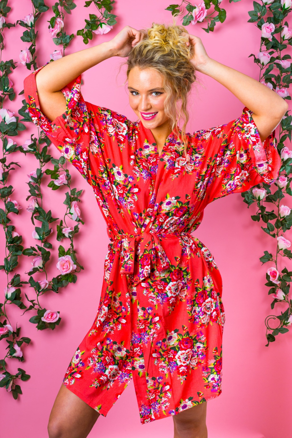 Our beautiful floral Bridesmaid Robe kimonos are 100% cotton, lightweight and breathable, not to mention utterly stylish. Perfect for