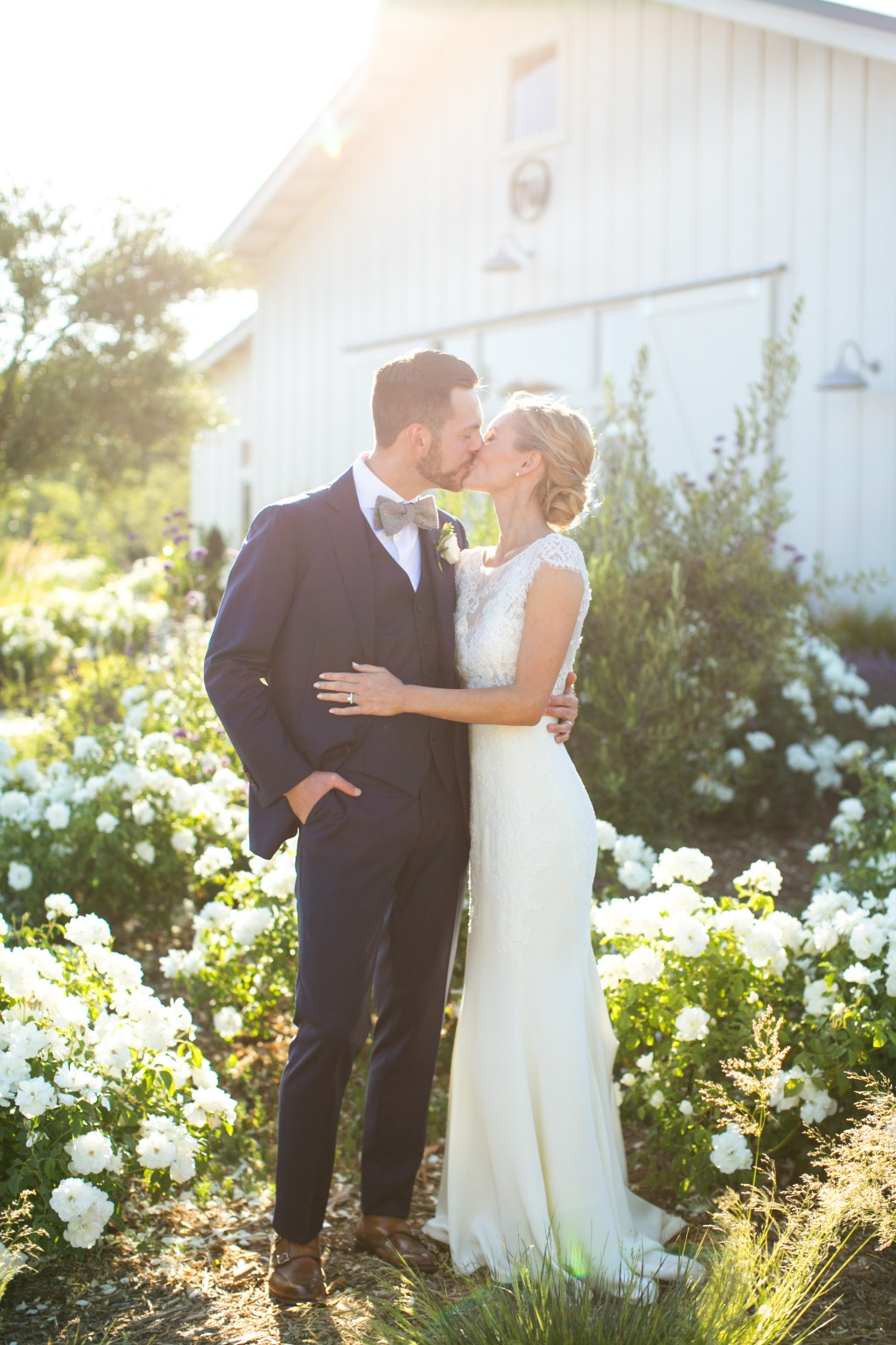 STEPHANIE + SEAN'S SONOMA WEDDING. Dress: Lea-Ann Belter Bridal Iris gown via Lace and Bustle Bridal | photographer: Sabine Scherer
