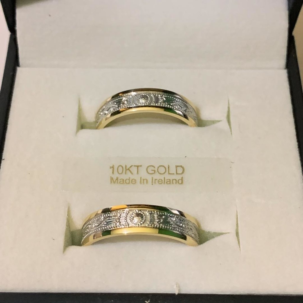 A stunning matching set of Celtic Warrior wedding rings, shipping out to France today!