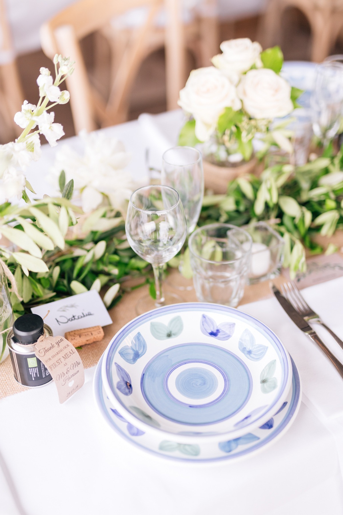 wedding reception with neutral tones