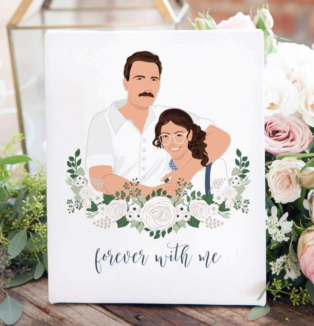 We love to create signs to honor your loved ones! This In Loving Memory Remembrance Sign with Portrait features a portrait of you and
