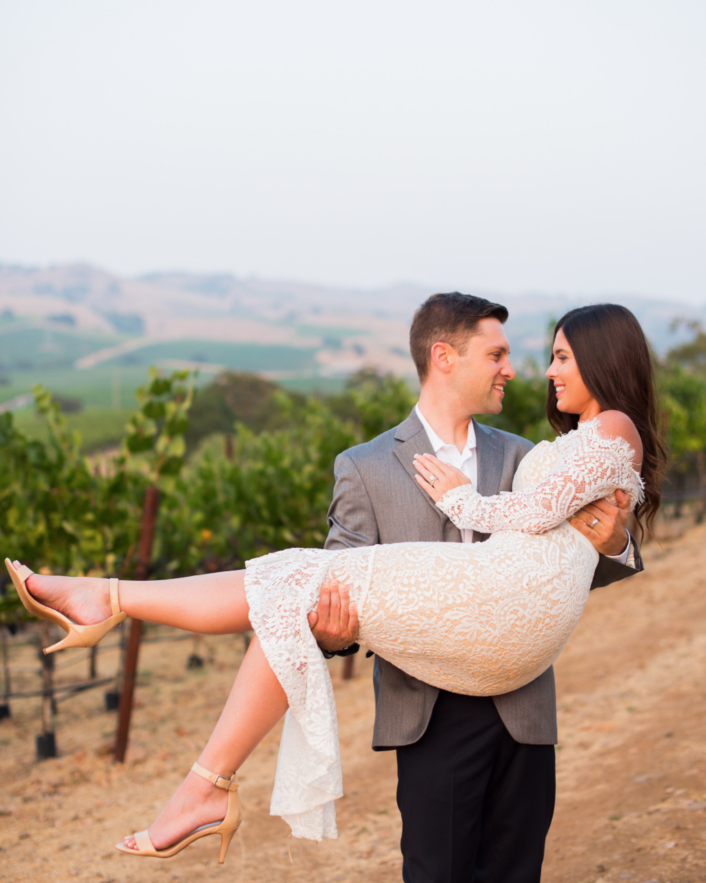Napa is the perfect place for photos, whether it's your wedding, your engagement, or, like these two, your anniversary.