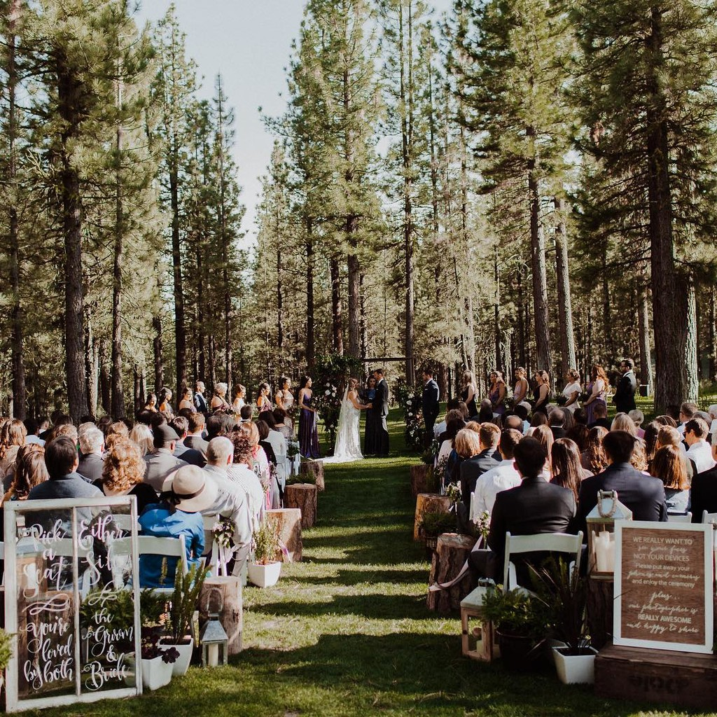"""Deep in the forests of northern California you'll find yourself in a little enchanted wedding oasis."" –"