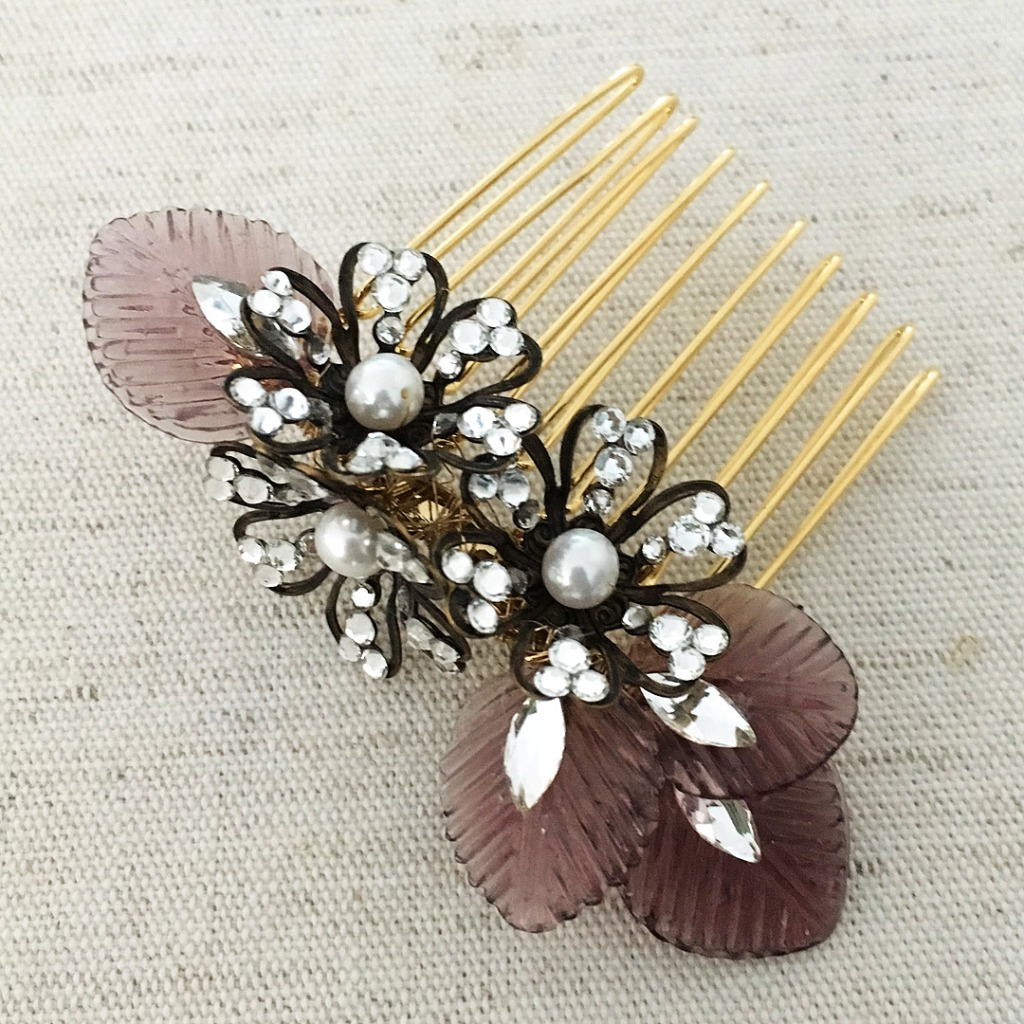 Who loves purple? New hair comb from Miss Allaneous Bridal Accessories. A unique wedding day hair comb that can be worn for any special