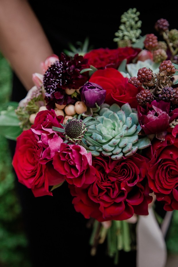 Shake Up Your Spring Wedding With A Dramatic Color Palette