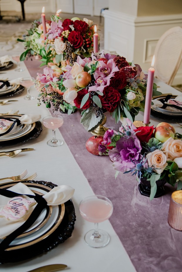 wedding table decor for your spring wedding