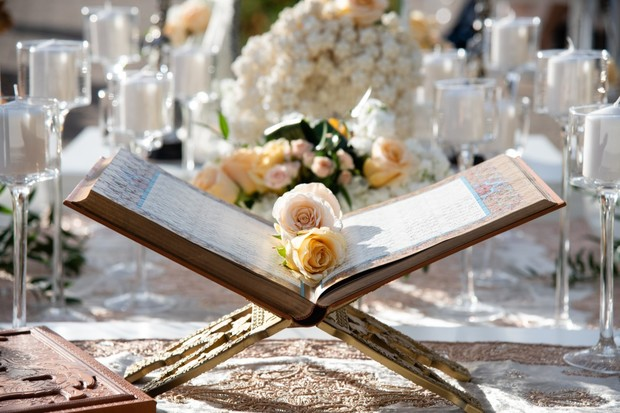 Persian wedding ceremony holy book