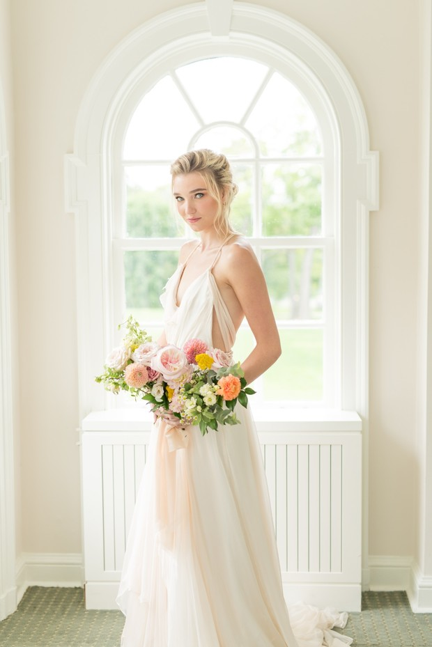 wedding ready in Catherine Langlois Bridal dress