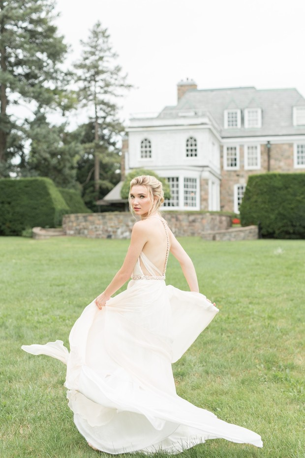 twirling in your wedding dress